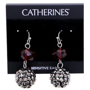 3/$20 Catherines red and silver sparkly dangles